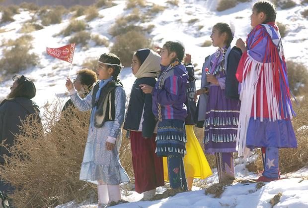 Дети из племени навахо. Штат Юта, 2002 год