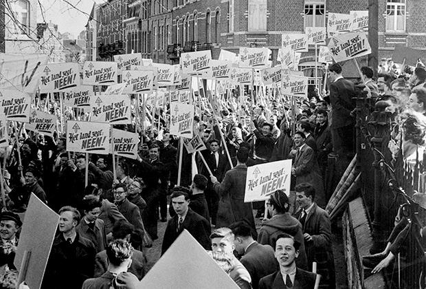 Протесты студентов в Бельгии, 1955 год