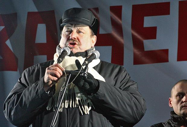 Геннадий Гудков во время митинга «За честные выборы»