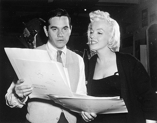 Мэрлин Монро с фотографом Милтоном Грином, 1955 год