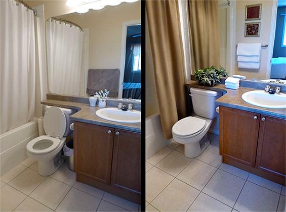 Ванная комната до и после хоумстейджинга