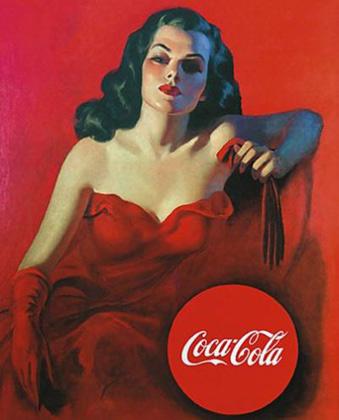 Репринт плаката Coca-Cola 1950-х годов