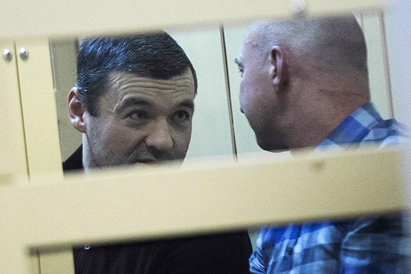 Ореховские лидеры Дмитрий Белкин и Олег Пронин в Мосгорсуде 23 октября 2014 года