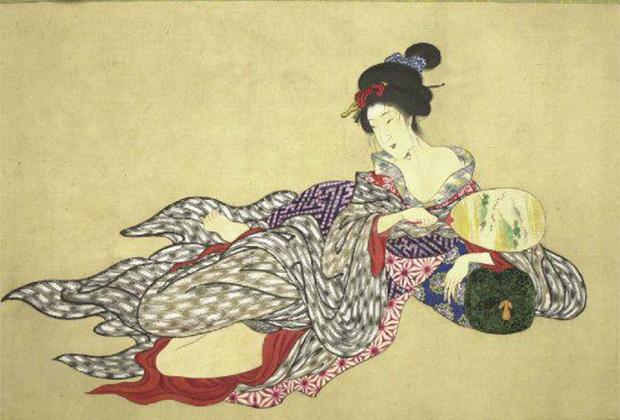 Серия японских гравюр «Тело куртизанки на девяти стадиях разложения» (1870)