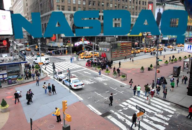 Вид на Таймс-сквер из офиса Nasdaq