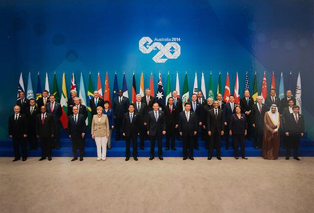 Групповая фотография лидеров стран G20