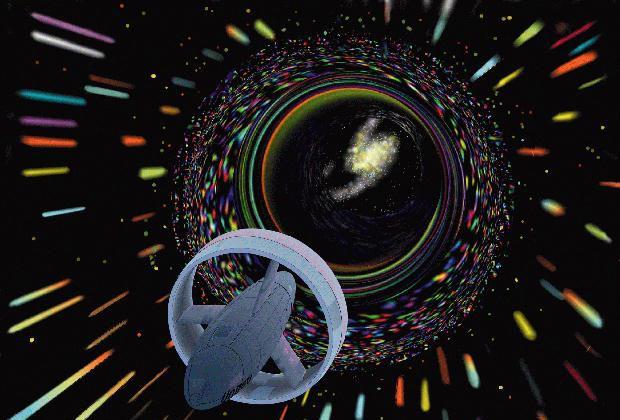 Космический корабль на пути к червоточине в представлении НАСА