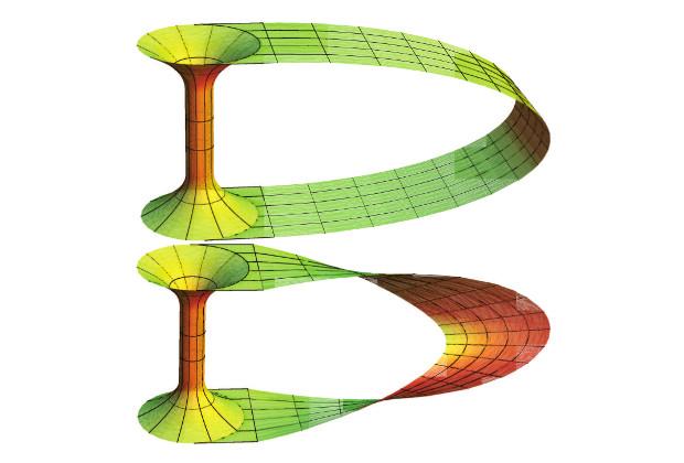 Обыкновенная (сверху) и неориентируемая (внизу) червоточины
