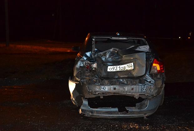 Одна из пострадавших машин VolvoS40