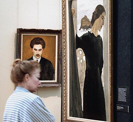 Портреты супругов Цетлиных на выставке «Русское искусство в коллекции Марии и Михаила Цетлиных» в Государственной Третьяковской галерее