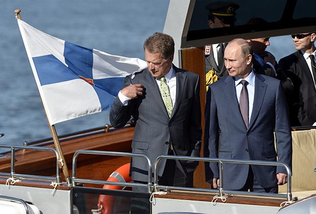 Президенты России и Финляндии Владимир Путин и Саули Нийнистё