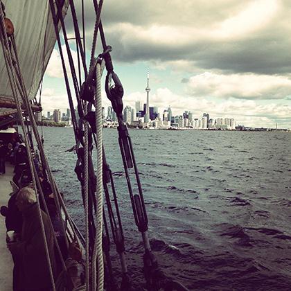 На борту прогулочной яхты, озеро Онтарио