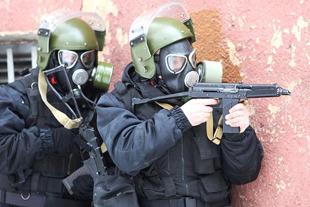 Спецназ УМВД по Калининградской области на антитеррористических учениях