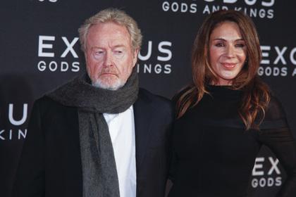 Ридли Скотт (слева) на премьере фильма «Исход: цари и боги» в Нью-Йорке