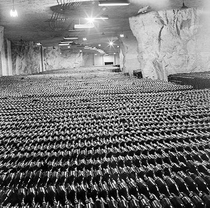 Склады подземного завода шампанских вин, 1972 год