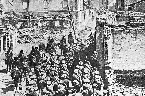 Русские войска в Бучаче, июнь 1916 года