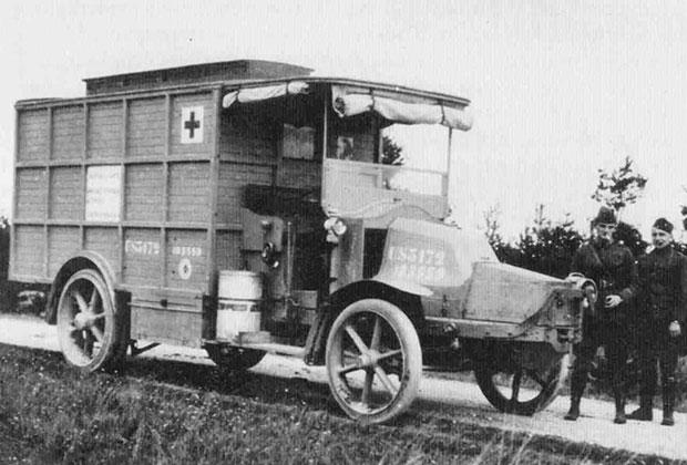 Передвижной рентгеновский кабинет, 1917 год