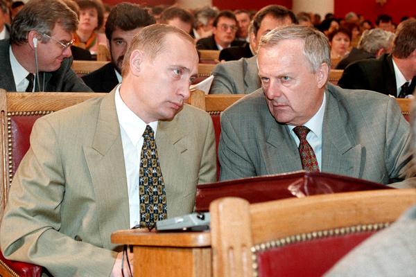 Владимир Путин и Анатолий Собчак, 1997 год