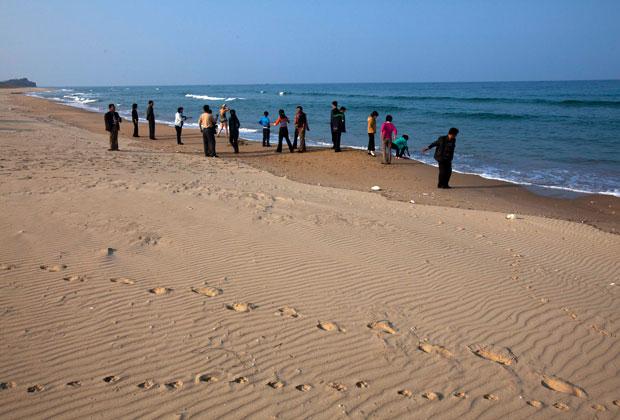 Туристы у озера Сиджунг