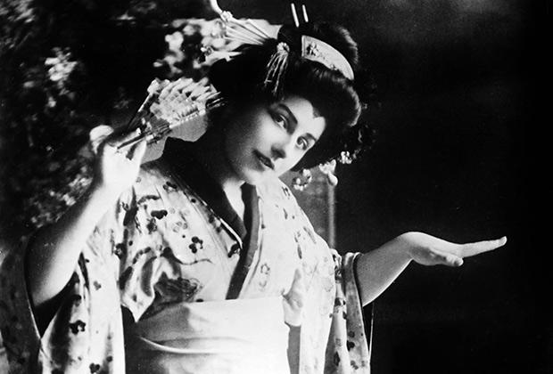 «Мадам Баттерфляй» в исполнении американской оперной дивы Джеральдины Фаррар в 1920 году