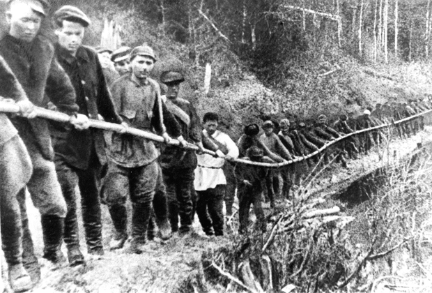 Заключенные ГУЛАГа, 1929 год Коми