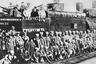 Гражданская война. Бронепоезд, изготовленный луганскими рабочими-паровозниками для Царицынского фронта.