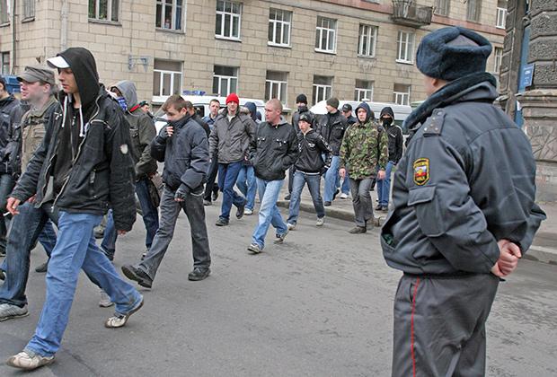 Митинг и шествие в рамках акции «Русский Марш» от партии «Славянский союз»