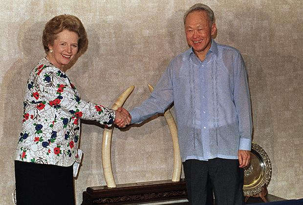 Ли Куан Ю и Маргарет Тэтчер