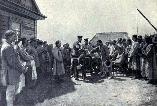 Распределение вновь образованных хуторов между домохозяевами в дер. Белинок