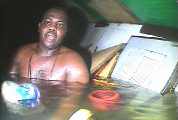 Спасшийся при кораблекрушении буксира кок Харрисон Окейн
