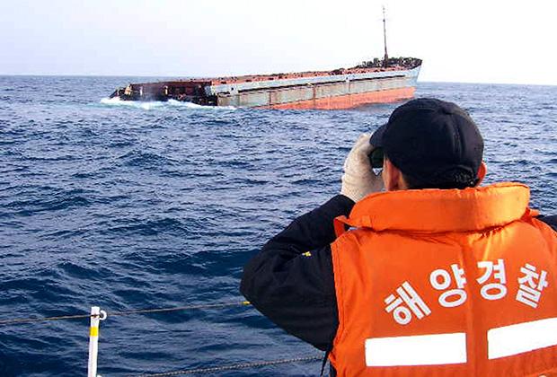 Береговая охрана порта Ульсан ищет выживших при крушении сухогруза «Александра»