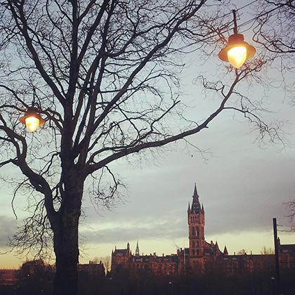 Главная башня Университета Глазго