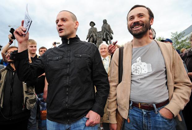 Координатор движения «Левый фронт» Сергей Удальцов и Илья Пономарев