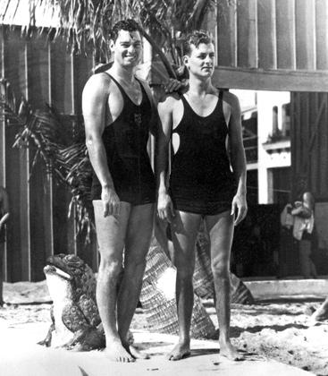 Курортники на пляже в Майами, 1930 год