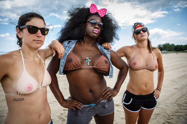 "Here's a bikini that makes it look as though you are going topless. The TaTa Top, designed by two US based feminists, is flesh-coloured and features two 'nipples'. It has been designed to ""promote questioning the social norm and digging deeper when it comes to society's expectations"", according to its makers. And it is aimed at women who want to show solidarity with the 'Free The Nipple' movement - but aren't quite ready to bare all."