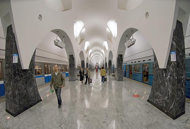 Интерьер станции метро «Волоколамская»