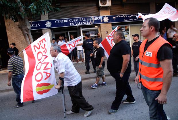 Ультраправые на демонстрации против засилья мигрантов