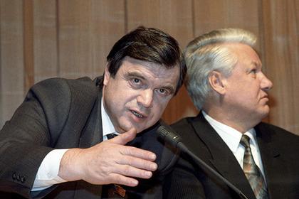Руслан Хасбулатов и Борис Ельцин, 1992 год