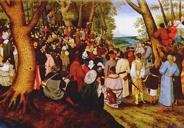 Иоанн Креститель проповедует перед народом