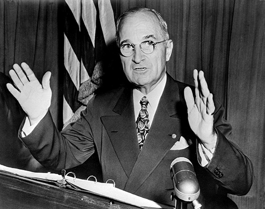 Президент США Гарри Трумэн, 1950 год