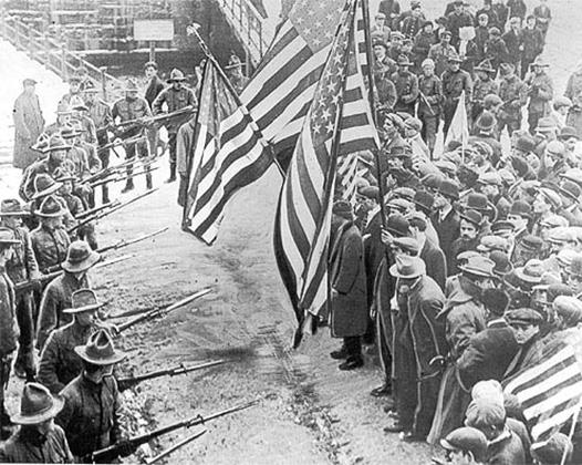 Забастовка рабочих, 1912 год