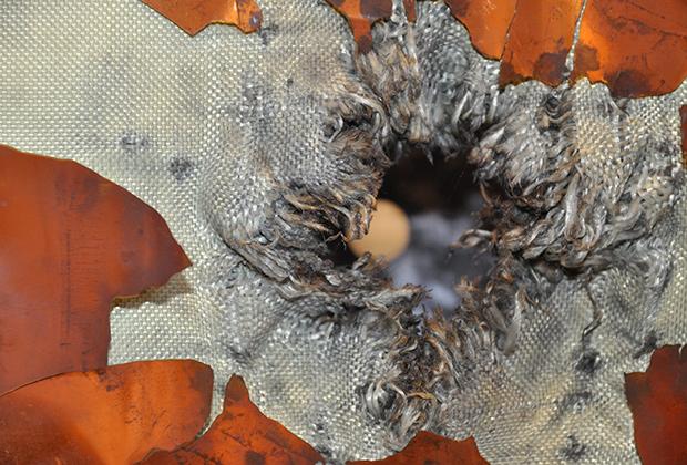 Лабораторные тесты обшивки европейского космического корабля ATV
