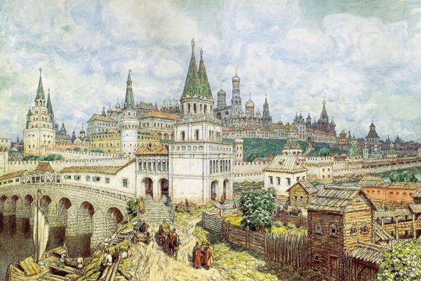Васнецов А.М. «Расцвет Кремля в конце XVII века»