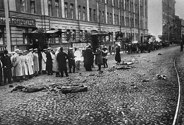Место убийства министра внутренних дел Плеве эсером Созоновым на Измайловском проспекте