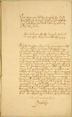 Письмо Лжедмитрия II сандомирскому воеводе Юрию Мнишеку из Орла о своем скором восшествии на российский престол с помощью польского короля Сигизмунда III. Подпись – автограф Лжедмитрия II, январь 1608 года