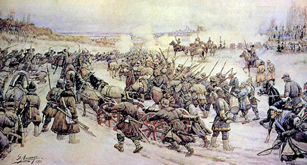 «Восстание Болотникова», художник Э.Э. Лисснер, 1939 год
