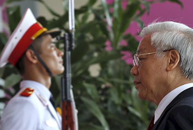 Лидер Компартии Вьетнама Нгуен Фу Чонг. 18 мая 2015года