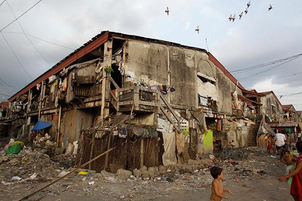 Трущобы Тондо в районе Манилы, Филлипины
