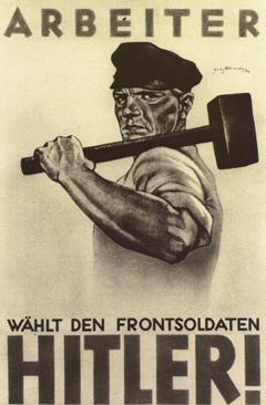 Предвыборный плакат НСДАП, 1932 год