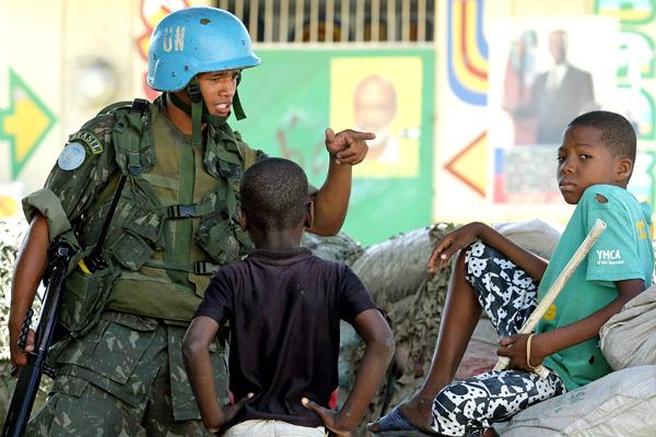 Бразильский миротворец на Гаити